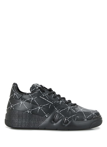 Giuseppe Zanotti Giuseppe Zanotti  Logo Baskılı Erkek Deri Sneaker 101625071 Siyah